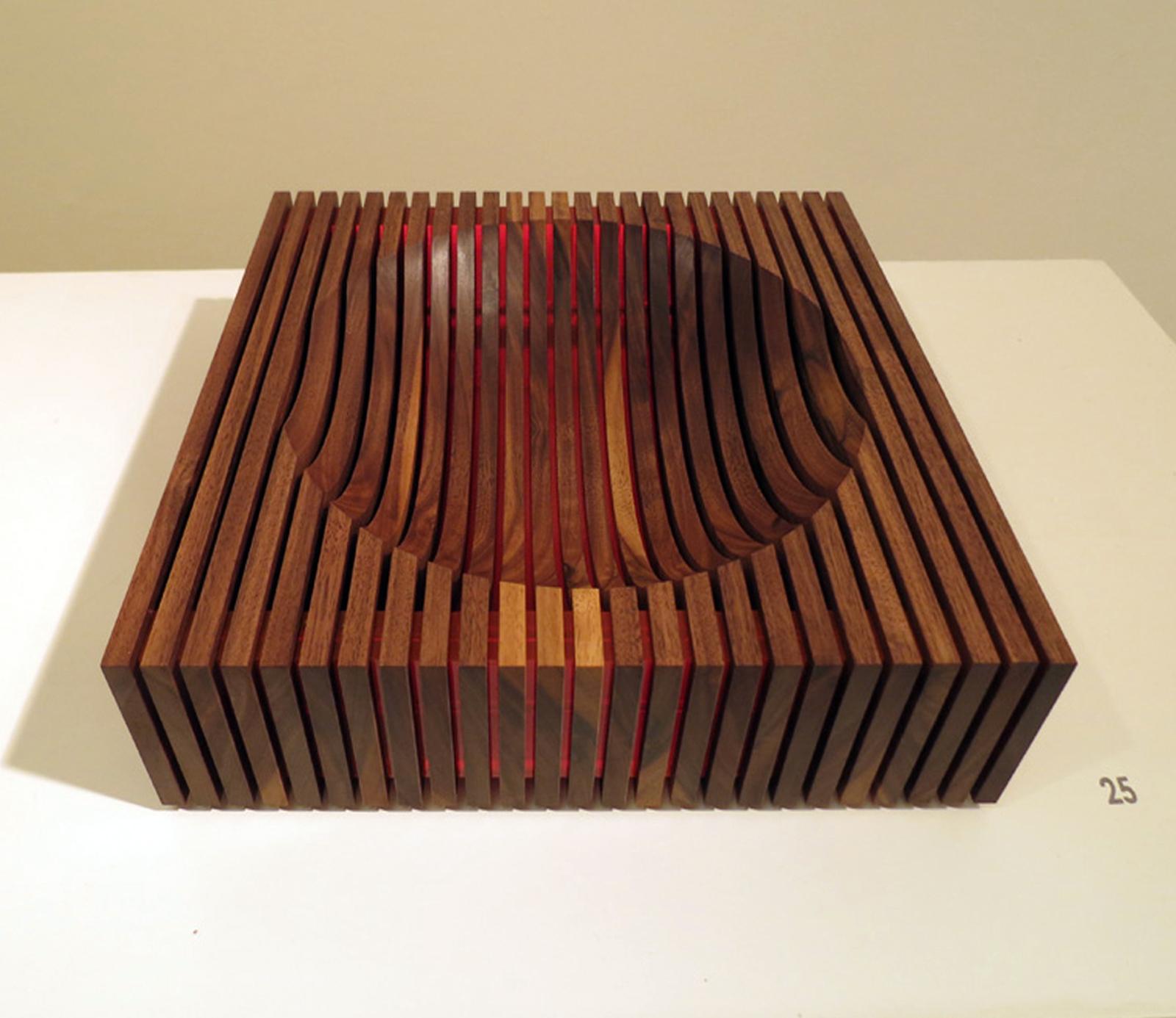 25. Hemisphere III , Brendan Jurich, American Black Walnut, acrylic, aluminium, titanium, $790