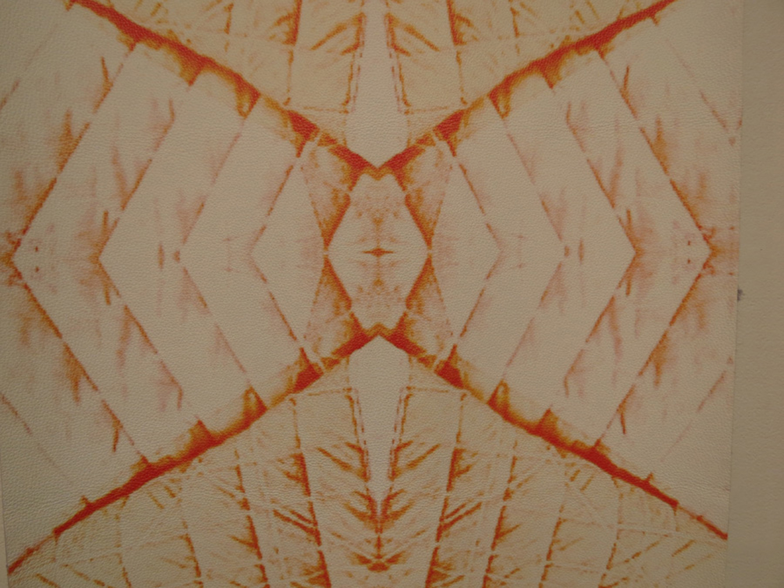 27.  Wanders - crossstitch 2  (detail), Richelle Doney, leather wallpaper, $730 per drop