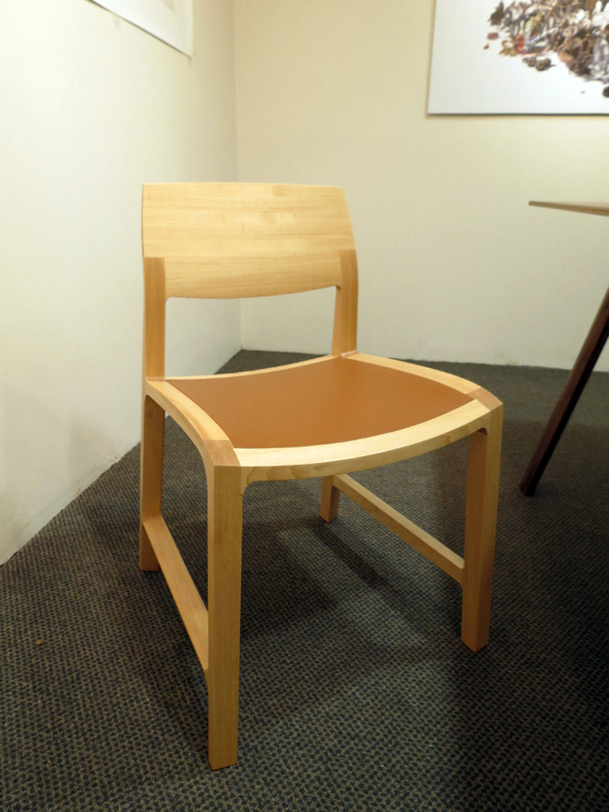 38.  Fletcher Chair , Adam Cruickshank, hickory, full aniline leather, $1,300