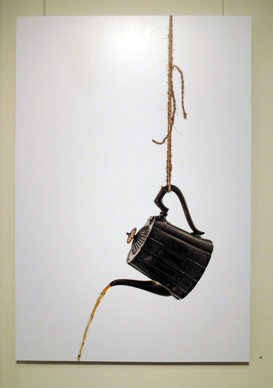 42.  Teapot  from  The Sword of Damocles  series, Eva Fernandez, archival inkjet print on aluminium, $2700