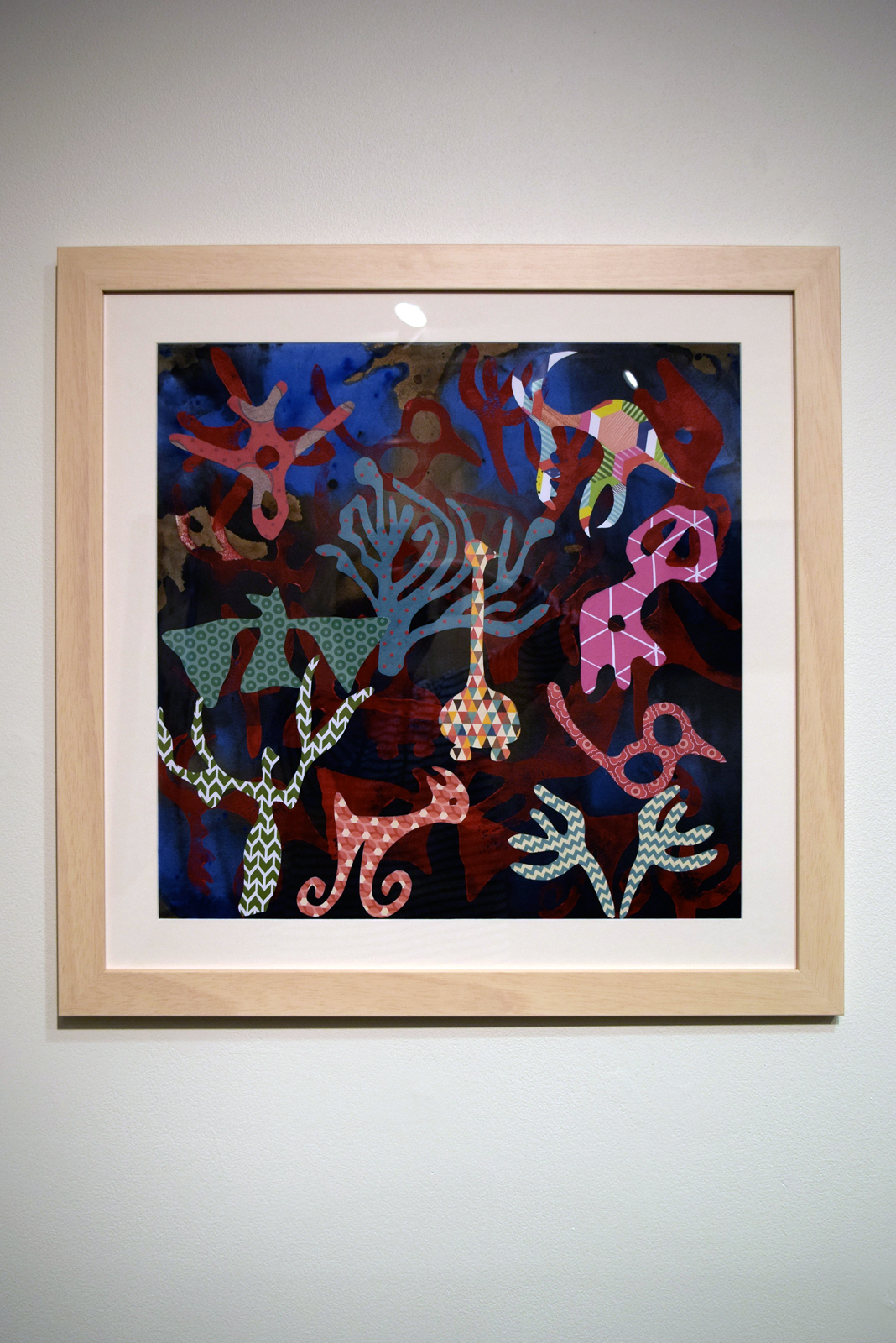 25.  Wild Things , Felicity Sivewright, acrylic, paper collage, $900