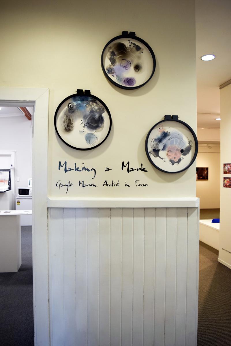 Natural Mark Making i, Natural Mark Making ii, Natural Mark Making iii, Gayle Mason , mixed media on paper,$250 each