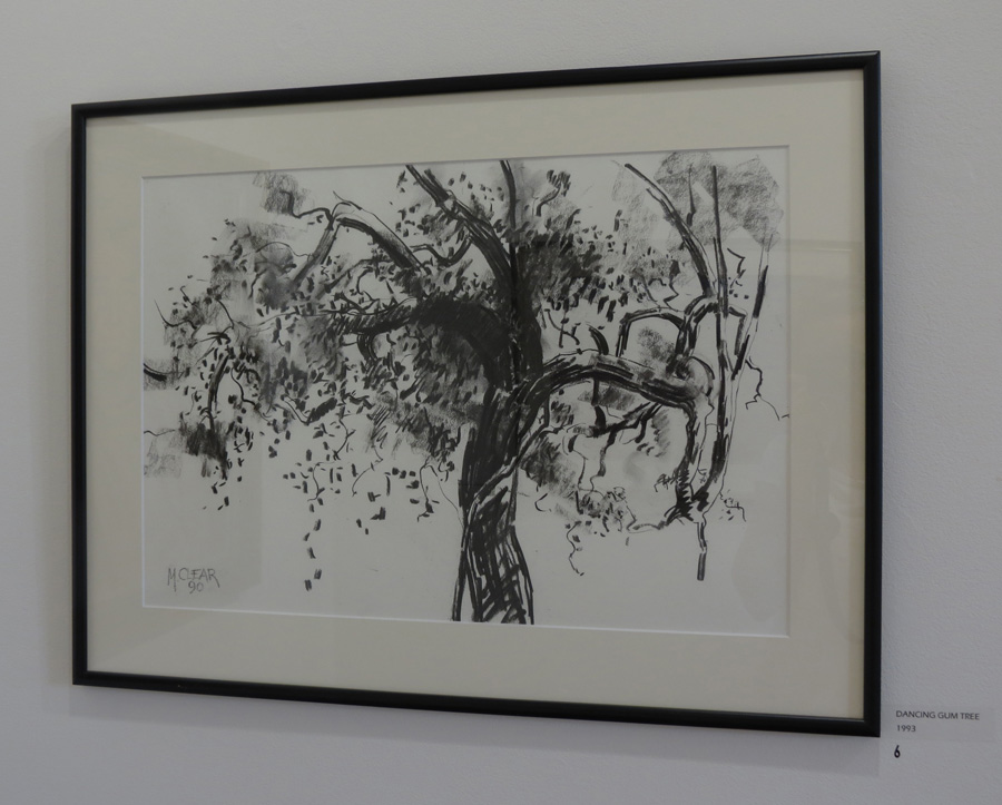 6. Madeleine Clear, Dancing Gum Tree , charcoal on paper, 1993,$660