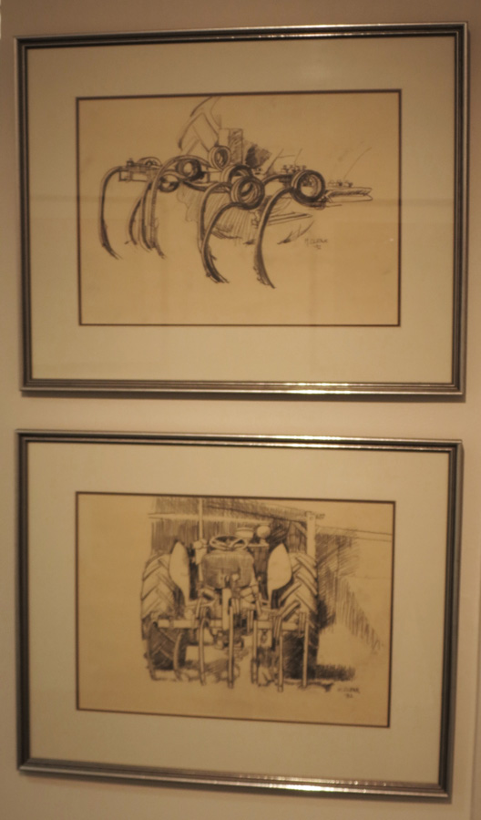 10. Madeleine Clear, Study of Curlytines , carbon pencil on paper, 1992,$550  11.Madeleine Clear, Study of MF35 , carbon pencil on paper, 1992,$550