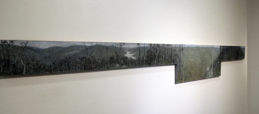 31. Madeline Clear, North Ledge - Full Circle , coloured graphite, charcoal on Masonite, 2015 $2,800