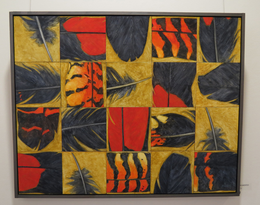 39. Madeleine Clear, Fragmented , oil on multiple plywood panels, 2012,$7,700