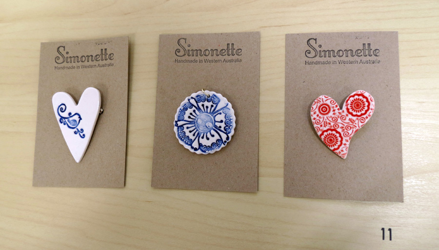 11. Louise Simonette,  Large Brooches  and  Pendants  $19.70 each
