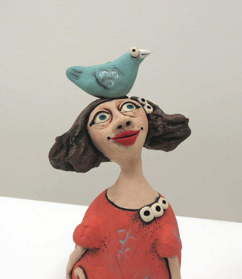 18. Louise Simonette,  My Friend Titch  (detail), stoneware paper clay, $120