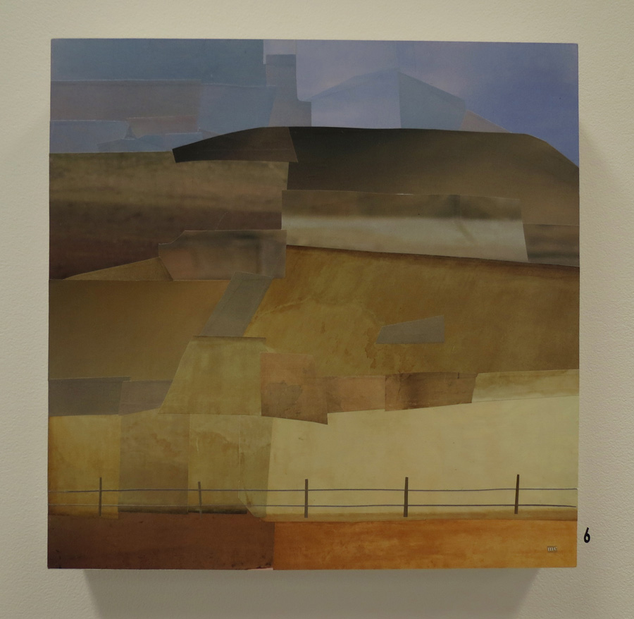 6. Mikaela Castledine,  Fence - New Norcia , paper collage, $600