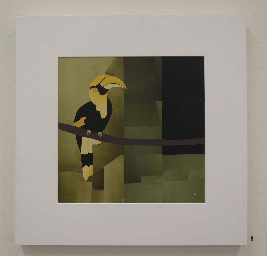 8. Mikaela Castledine,  Hornbill - Yangon Zoo , paper collage, $900