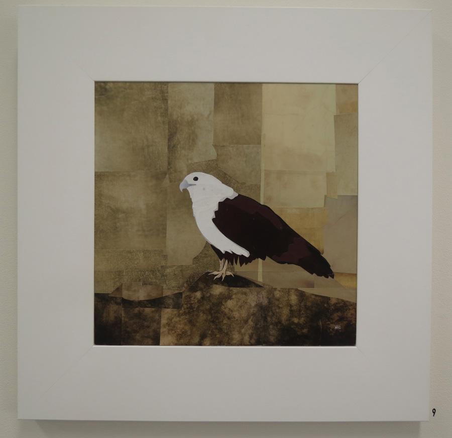 9. Mikaela Castledine,Brahminy Kite - Yangon Zoo, paper collage, $900
