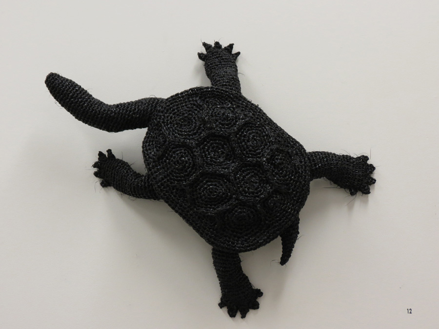 12. Mikaela Castledine, One Turtle Crossing , crocheted polypropylene and chicken wire, for PMH Residency, February 2016