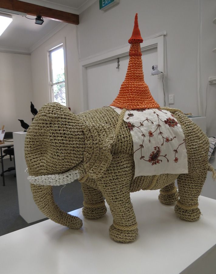 13. Mikaela Castledine, White Elephant , crocheted polypropylene and found objects, to be exhibited at Sculpture by the Sea Inside 2016