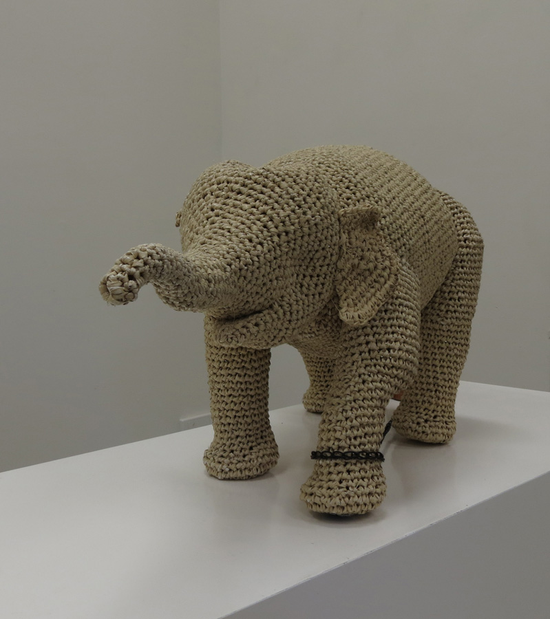 14. Mikaela Castledine, The Elephant Child , crocheted polypropylene and found objects, to be exhibited at Sculpture by the Sea Inside 2016