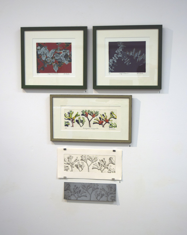 6 - 9. Helen Clarke prints and plate