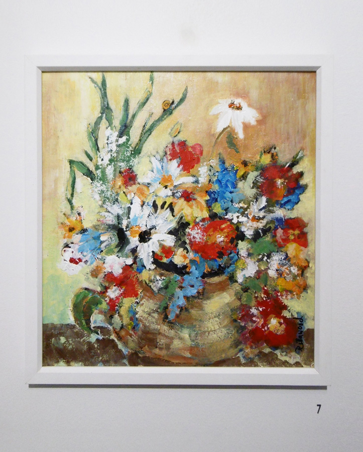 7. 'Flowers', Trudy Smith, acrylic on board, Private Collection