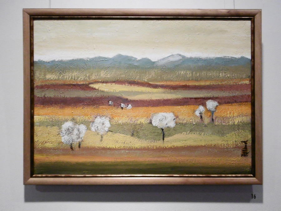 16. 'Gentle Landscape with Trees', Trudy Smith, acrylic on canvas, $380