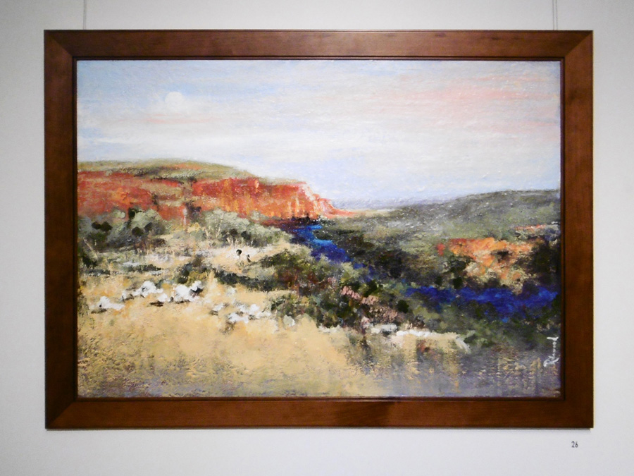 26. 'Oakover River', Trudy Smith, acrylic on canvas, $1230