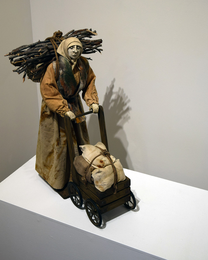 2. 'Unsung Heroine', Catherine Swioklo, Porcelain, metal, hand-dyed cloth, wood, found objects, $1,200