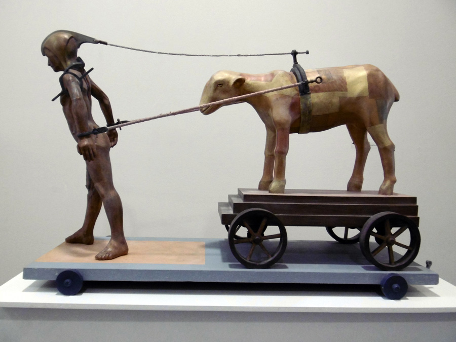 4. 'Baggage from Holland to Hovea', Hans Arkeveld, timber, fibreglass, $9,000
