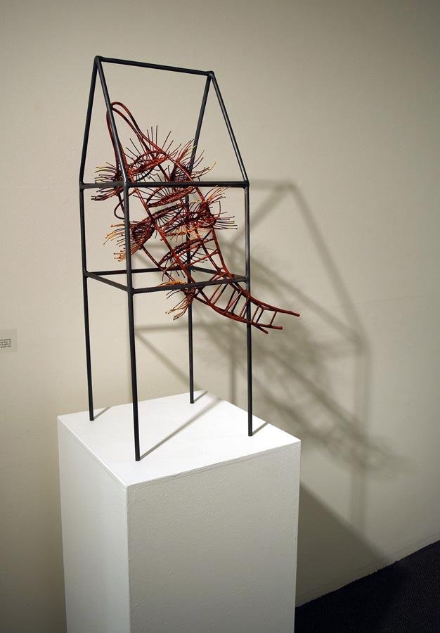 10. 'Home Sweet Home', Helen Seiver, steel, epoxy, $2,000