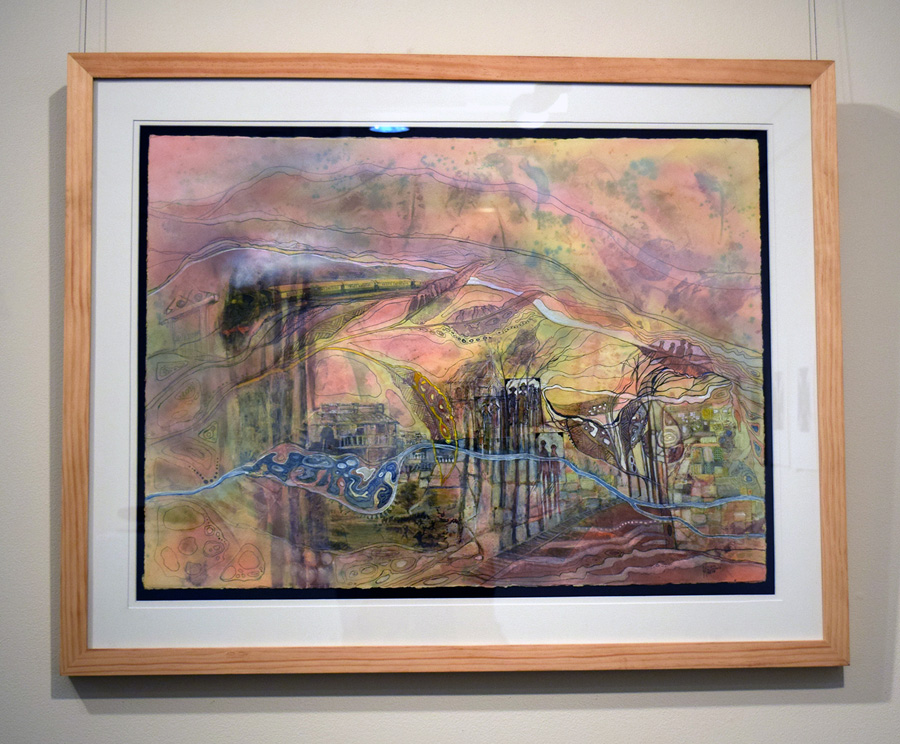 12. 'Layers in Time', Norma MacDonald, mixed medium on watercolour paper, $4,000