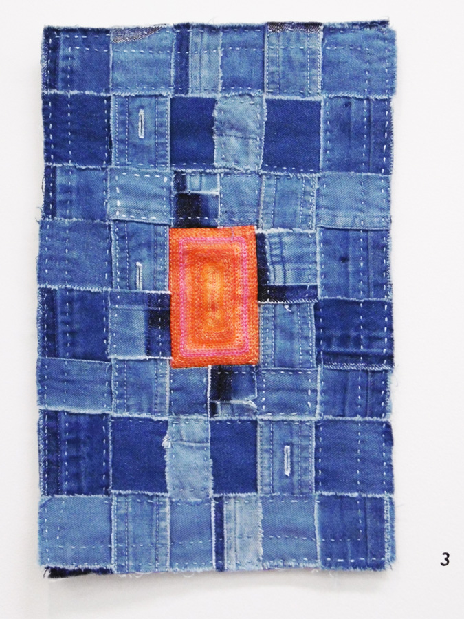 3. 'Infinite Blue Cries Out for Orange', Anne Williams, cotton, linen, $110