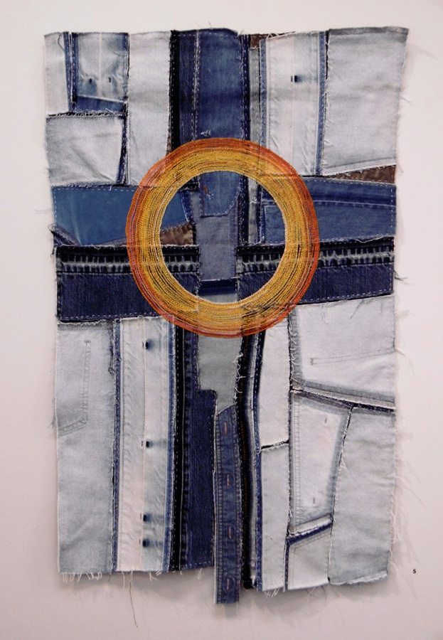 5. 'Sun Cross', Anne Williams, cotton, linen, silk, $300