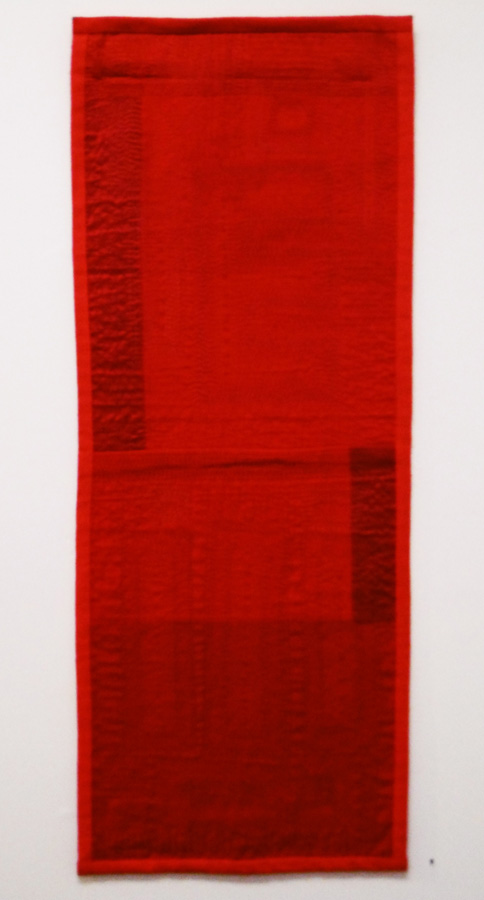 9. 'Red Cloth 2', Anne Williams, cotton, silk, $150