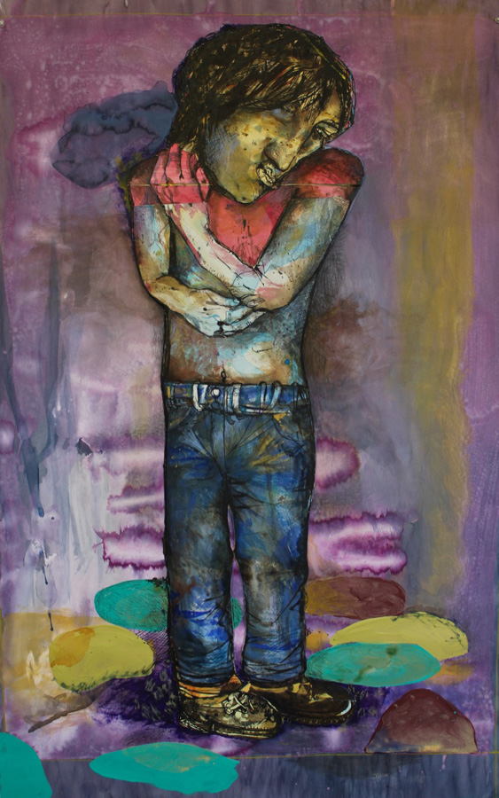 3. 'Stepping Stones 2', Antony Muia, mixed media on paper, $3,900
