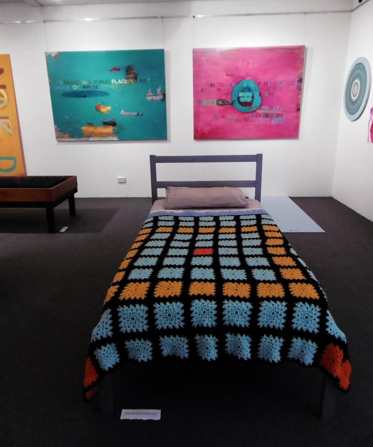 'Stepping Stones', Antony Muia, soft bed view
