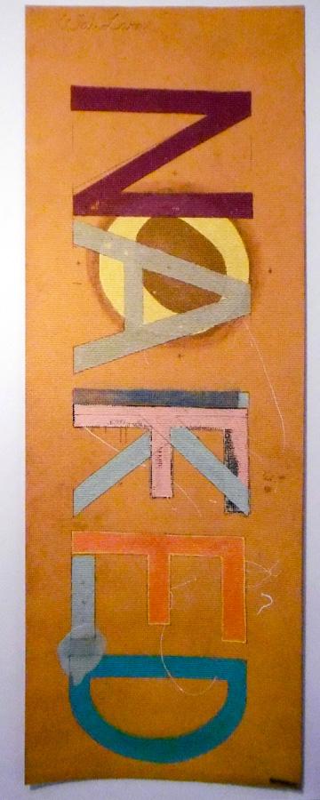9-10. 'Naked', Antony Muia, acrylic on yoga mat, NFS