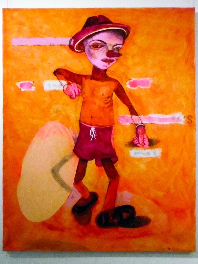 12. 'Lie To Me', Antony Muia, acrylic on canvas, $4,200