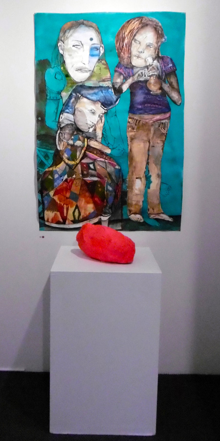 14. 'Gently close your eyes and make yourself as comfortable as possible', Antony Muia, mixed media on paper, $3,900