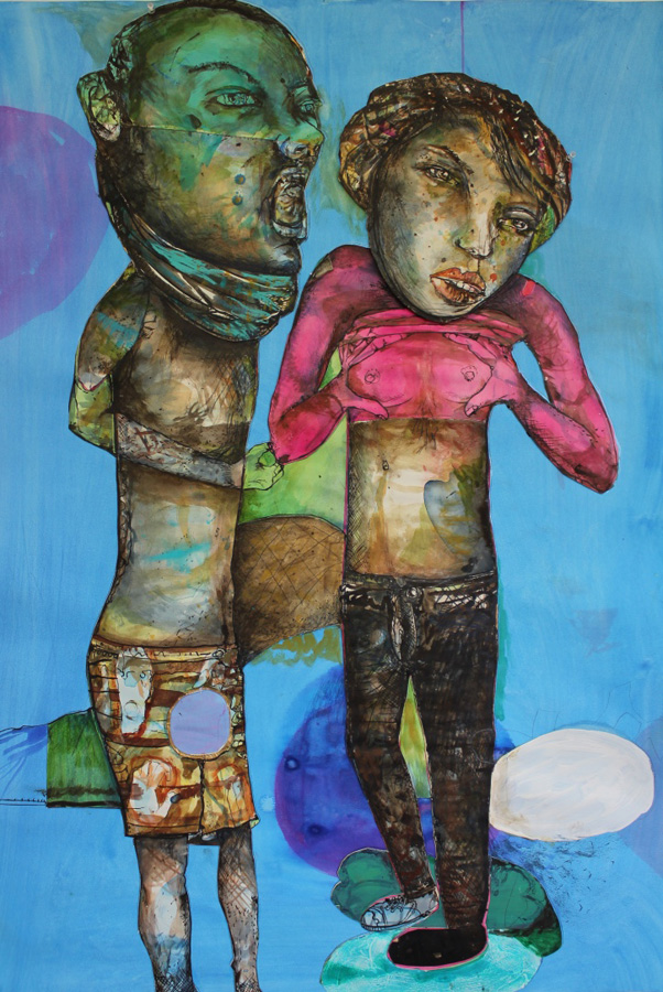 16. 'All the colours in the world can't not make me feel good', Antony Muia, mixed media on paper, $3,900
