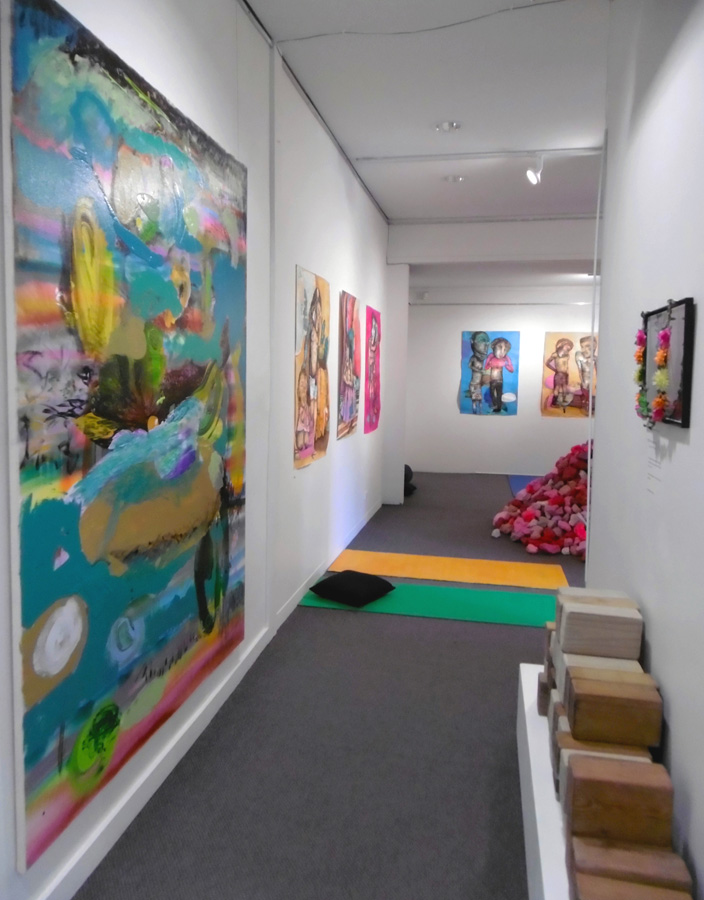 'Stepping Stones', Antony Muia, corridor view to gallery