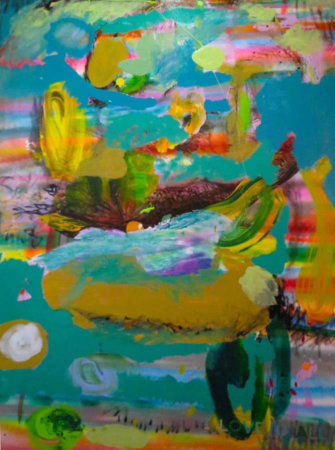 20. 'I LOVE U ALL', Antony Muia, acrylic on canvas, $5,200