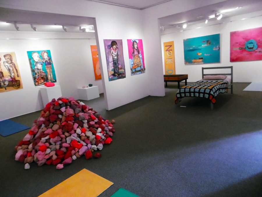'Stepping Stones', Antony Muia, south-east corner view to gallery