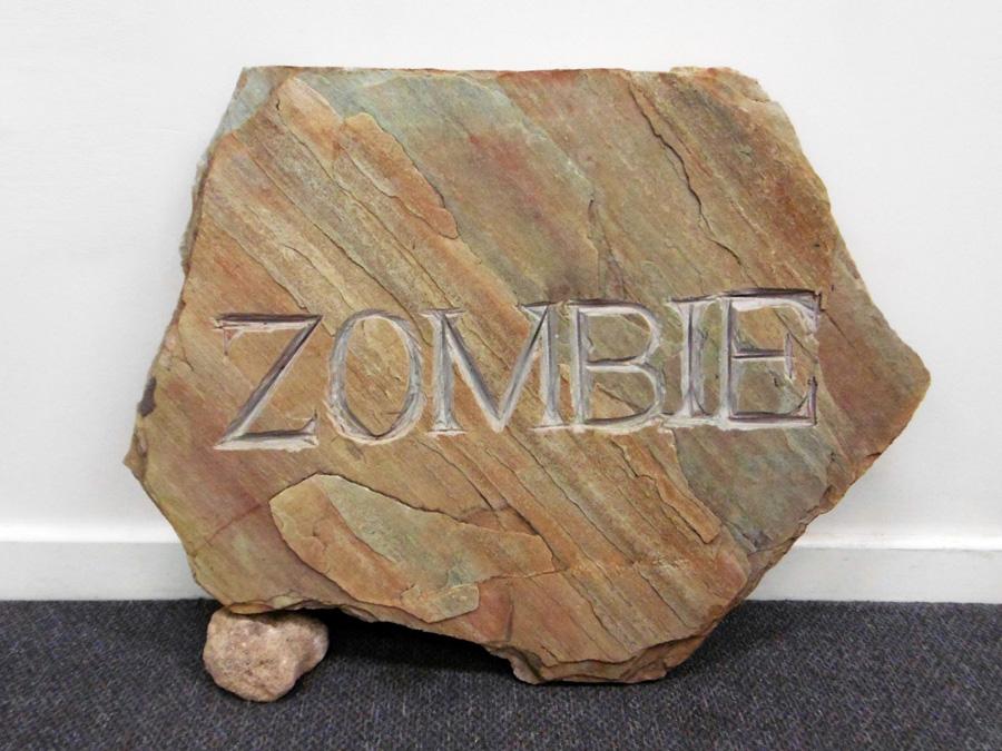 25. 'Zombie', Antony Muia, carved stone, $1,500