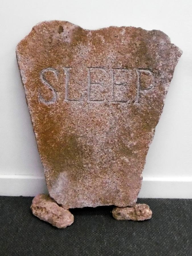 24. 'Sleep', Antony Muia, carved stone, $1,500