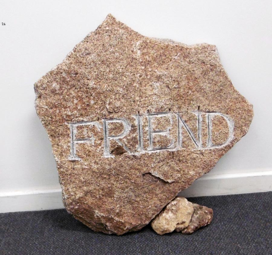 26. 'Friend', Antony Muia, carved stone, $1,500
