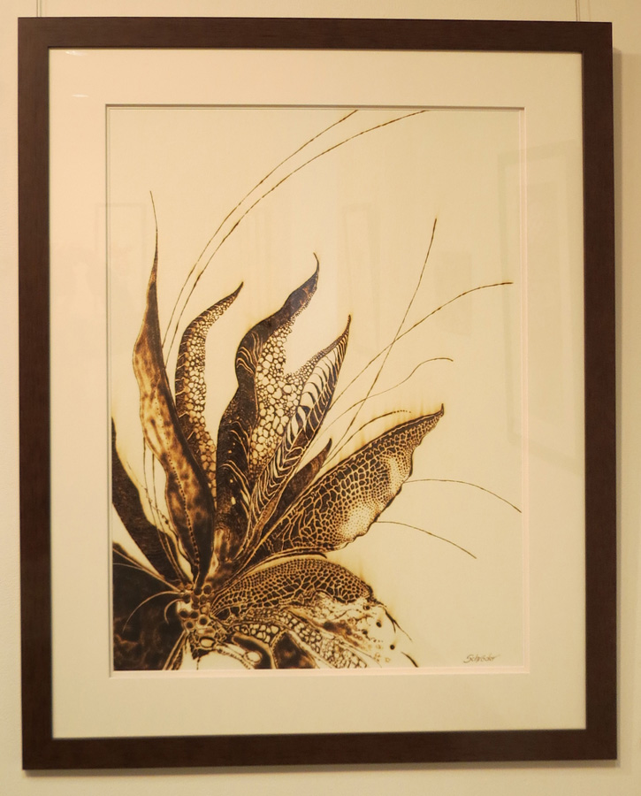 9. 'Floral Ignition II', Sandie Schroder, burnt paper, $1,550