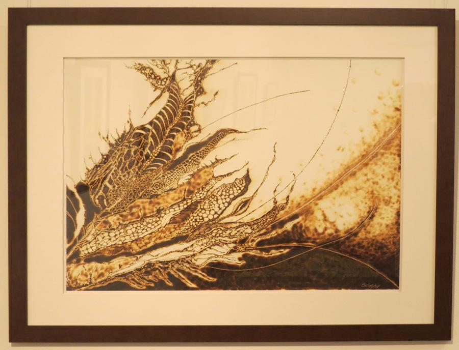 12. 'Floral Ignition III', Sandie Schroder, burnt paper, $1,650