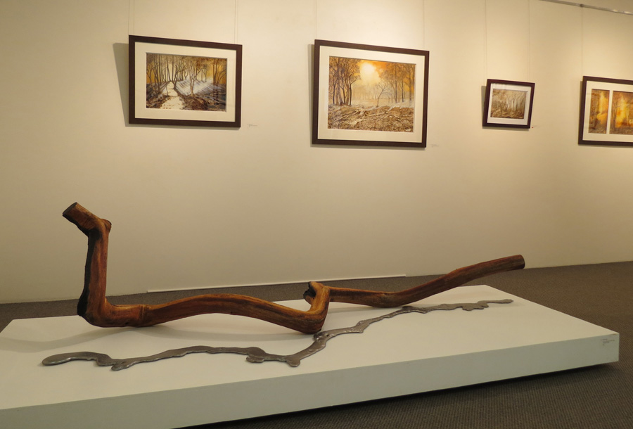 22. 'Untitled', Nick Statham, found materials, molten alloy, salvaged timber, POA