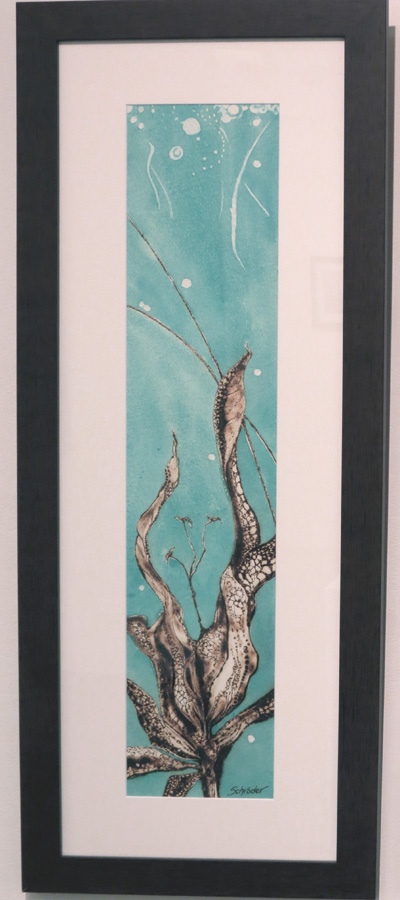26. 'Floral Ignition IV', Sandie Schroder, burnt paper and watercolour, $495