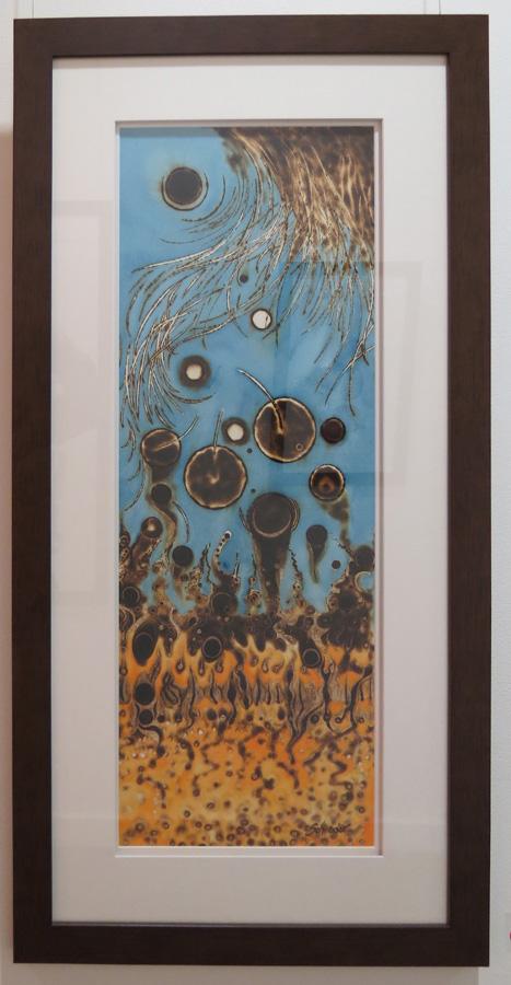 35. 'Below or Above', Sandie Schroder, burnt paper, $700