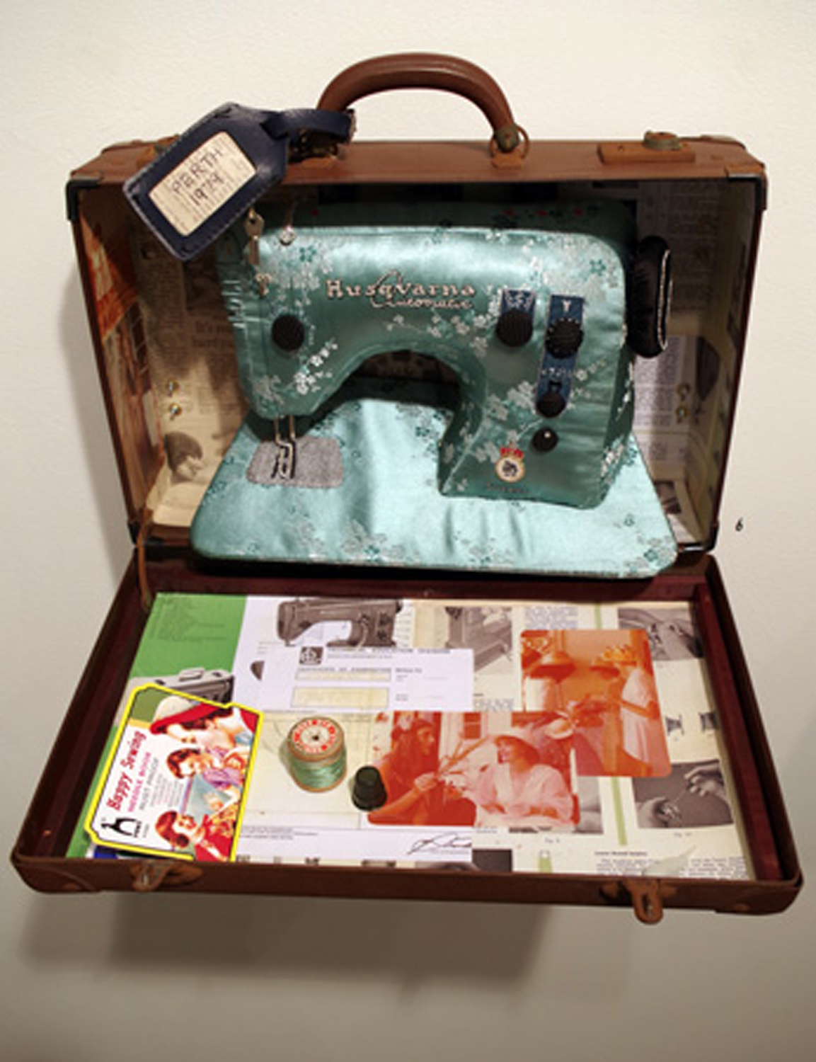 6. 'Perth - 1979', Susie Vickery, embroidery, applique, found objects, $1,400