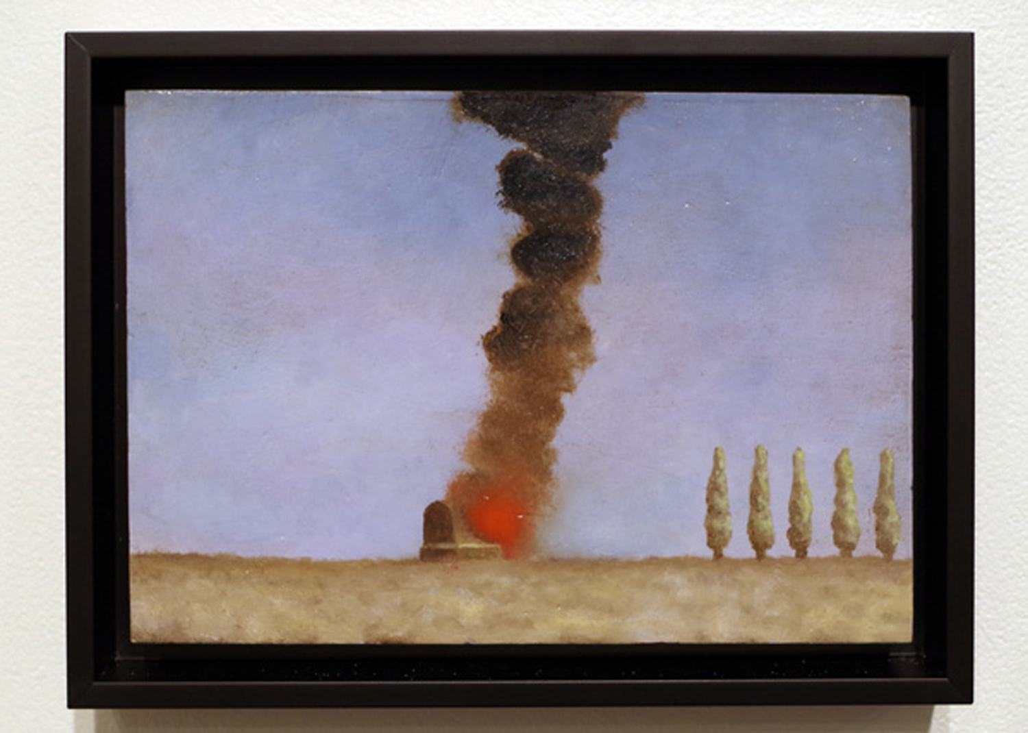 20. 'Field Test', Stuart Elliott, oil, varnish on recylced Masonite, $620