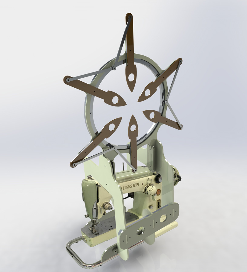4. 'Howe's Dream', Geoffrey Drake Brockman, 1960 Singer Sewing Machine, aluminium, lacquer, $4,400  Photo: Eva Fernandez