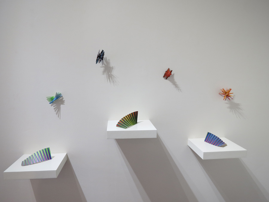 1-4. 'Construction' and 'Colourwave' installation